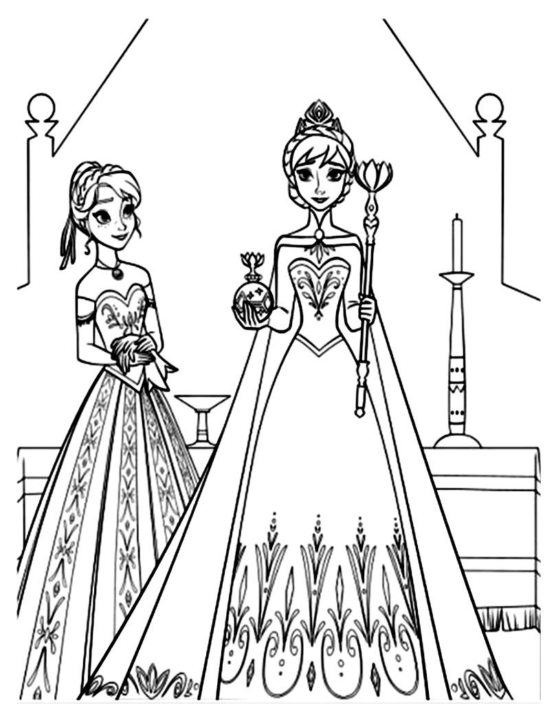 coloriage a dessiner a imprimer la reine des neiges elsa