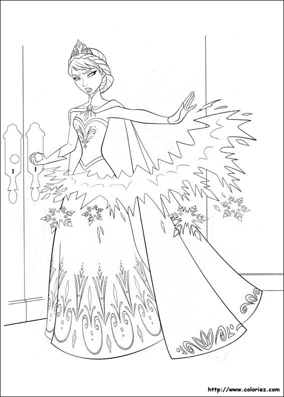 jeux de coloriage dessiner la reine des neiges en ligne - Jeux En Ligne Reine Des Neiges