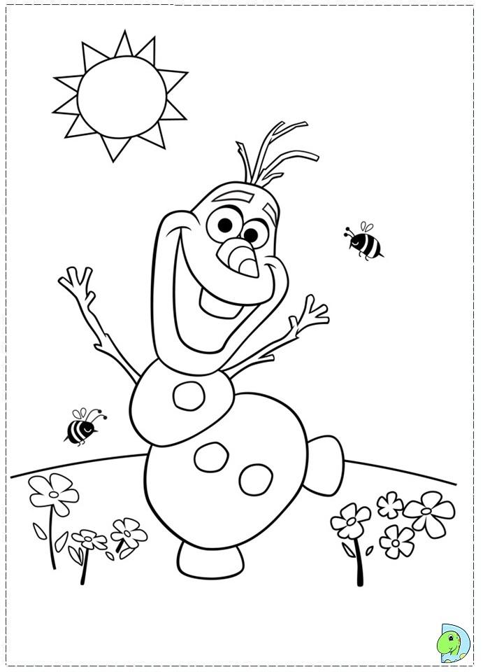 Coloriage reine des neiges format a4 - Coloriage olaf ...