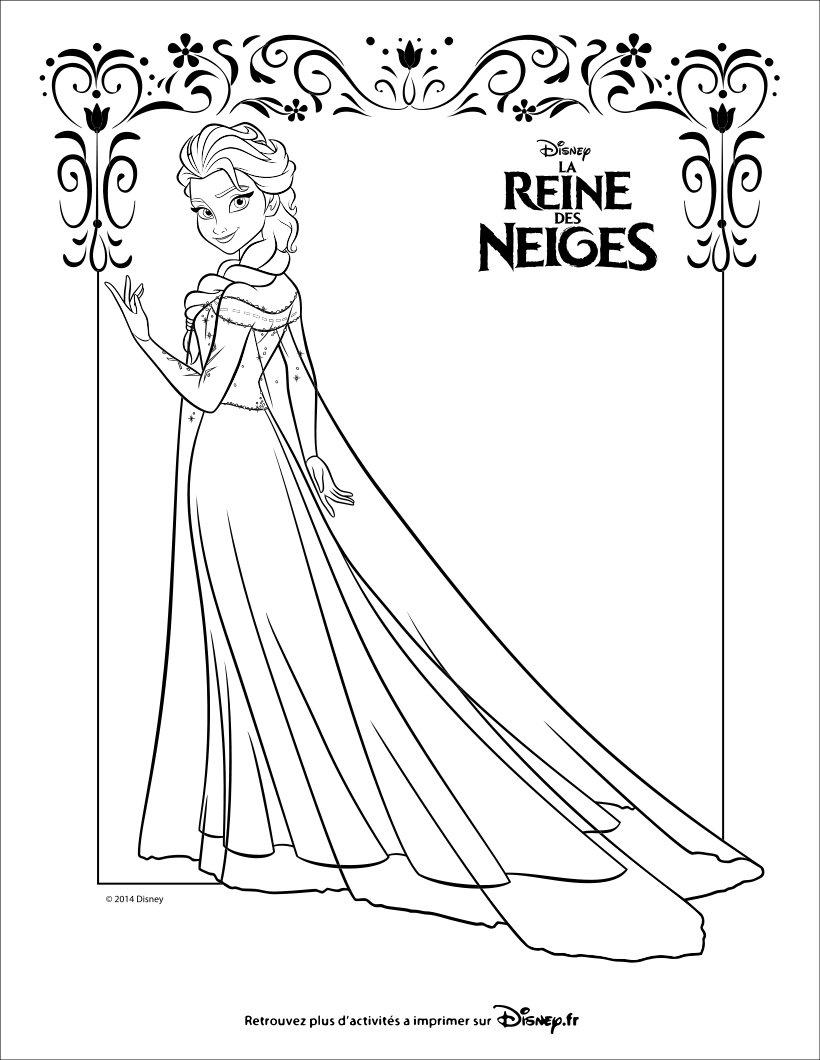 coloriage à dessiner à imprimer la reine des neiges