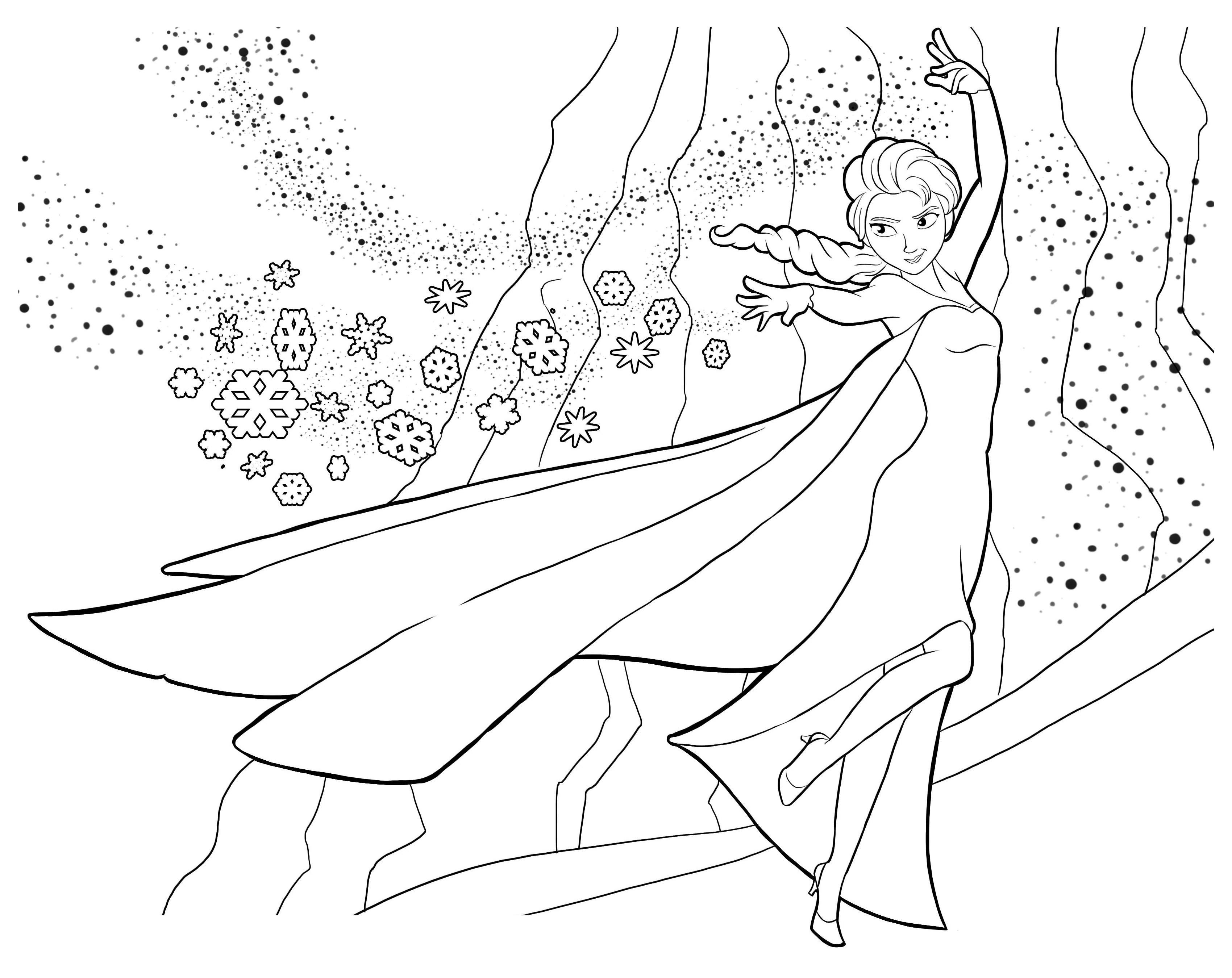 dessin à colorier à imprimer la reine des neiges elsa