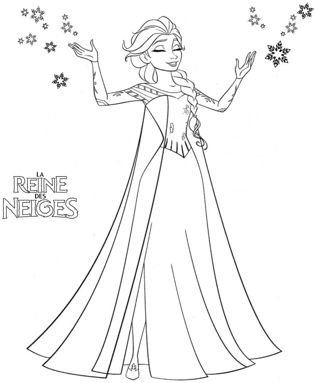 coloriage à dessiner la reine de neiges à imprimer