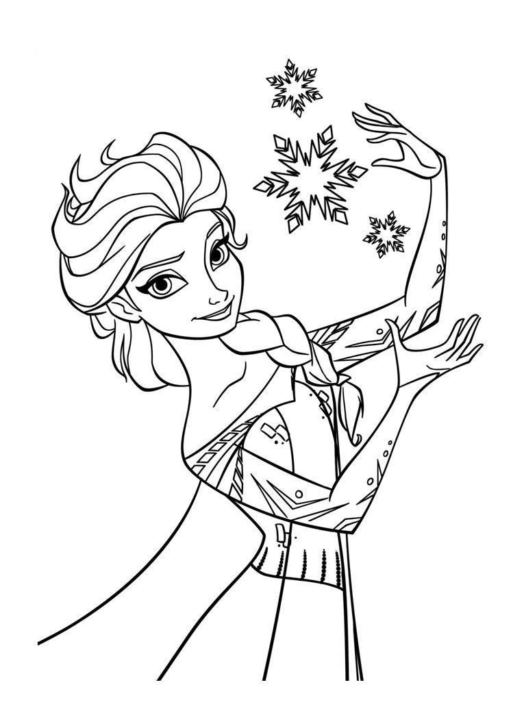 dessin à colorier la reine des neiges en couleur