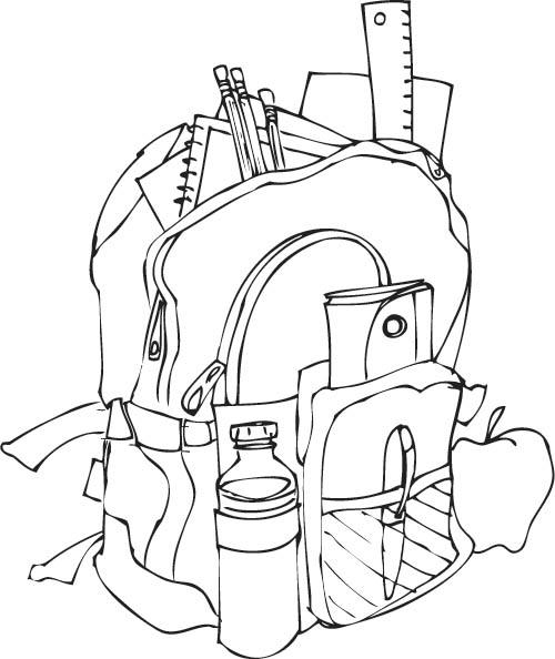 Assez 96 dessins de coloriage La Rentrée De L'école à imprimer VX75