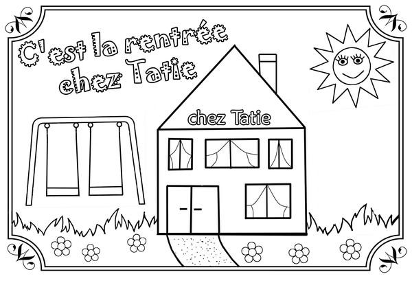 coloriage la rentree maternelle