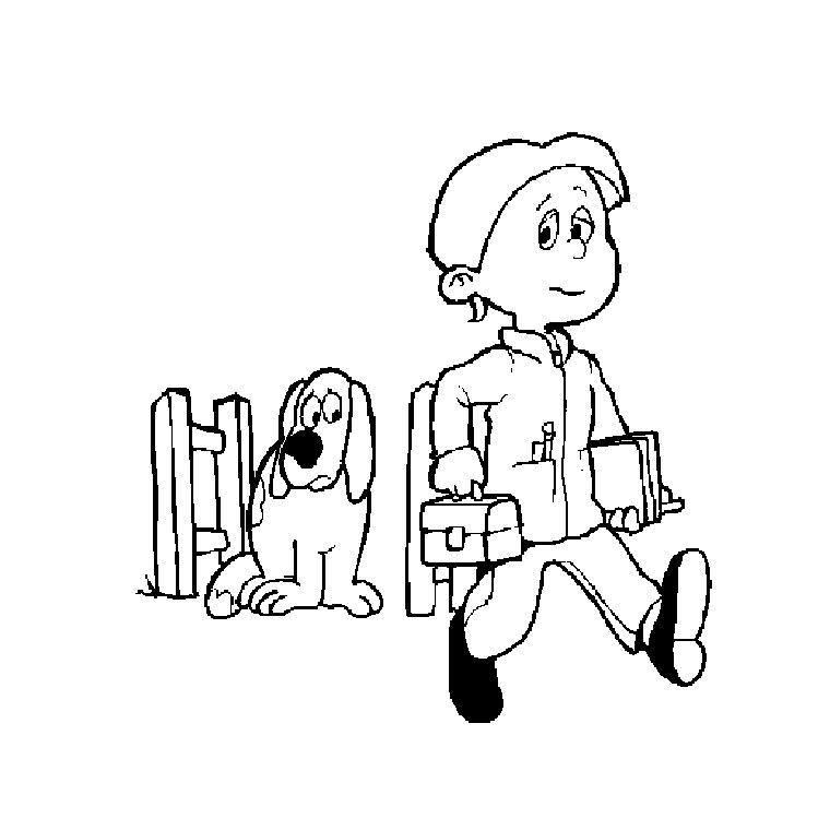 dessin à colorier gratuit sur la rentrée