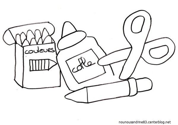 dessin a imprimer sur la rentree scolaire