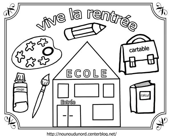 Top 121 dessins de coloriage La Rentrée à imprimer AV38