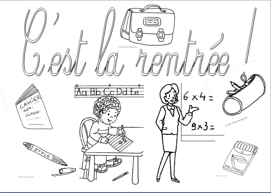 Coloriage Ecoliers Retour Ecole Enfants Dessin: Dessin Pour La Rentree Scolaire