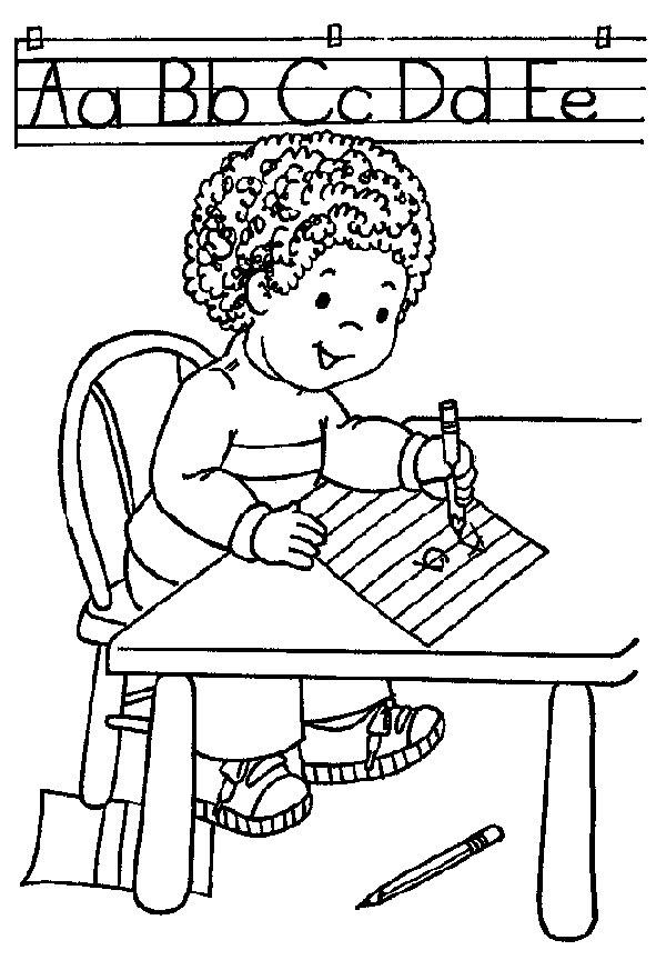 121 dessins de coloriage la rentr e imprimer - Dessin classe ...