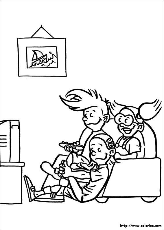 54 dessins de coloriage la tribu des timbr s imprimer. Black Bedroom Furniture Sets. Home Design Ideas