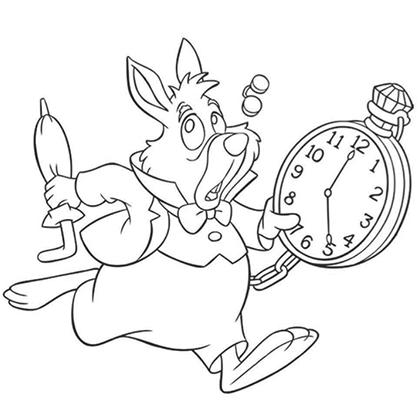 17 dessins de coloriage lapin alice au pays des merveilles imprimer - Alice au pays des merveilles lapin en retard ...