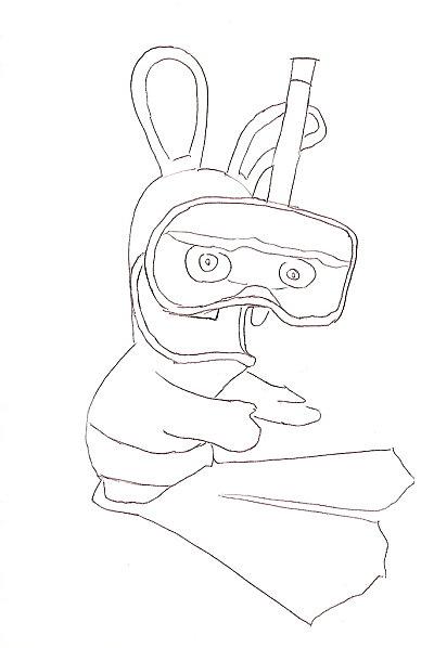 13 dessins de coloriage lapin cr tin a imprimer imprimer - Dessin cretin ...