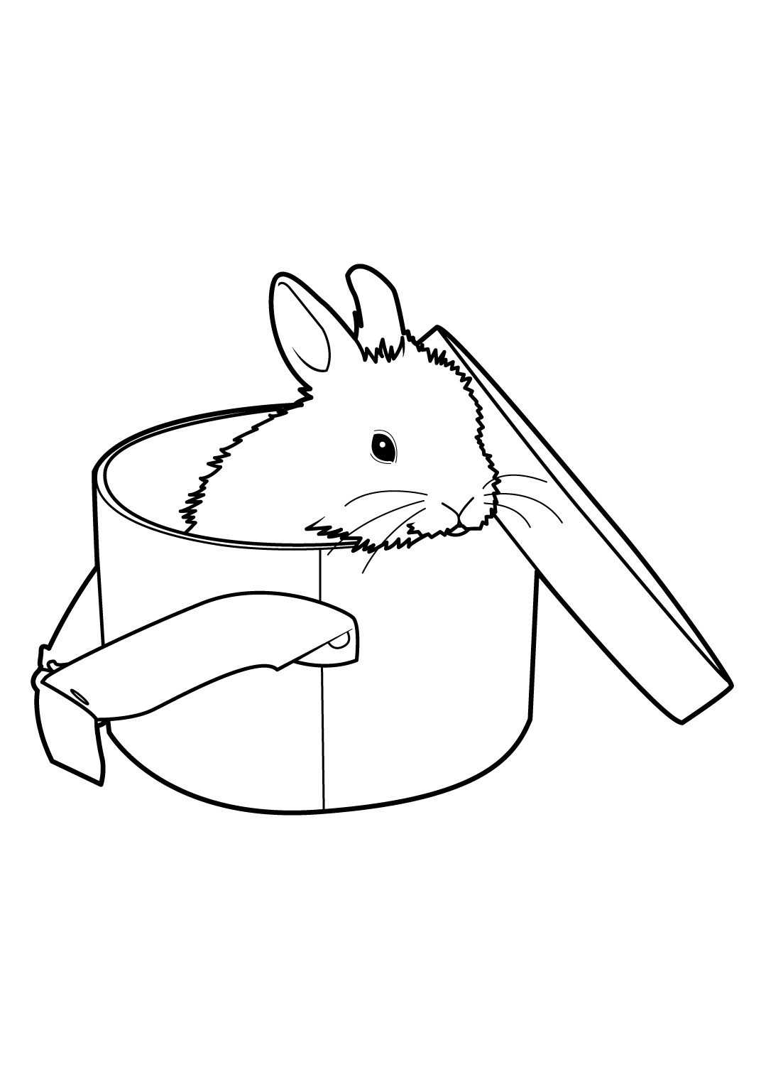 33 dessins de coloriage lapin cr tin imprimer - Lapin a colorier ...
