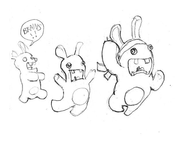 dessin lapin crètin gratuit
