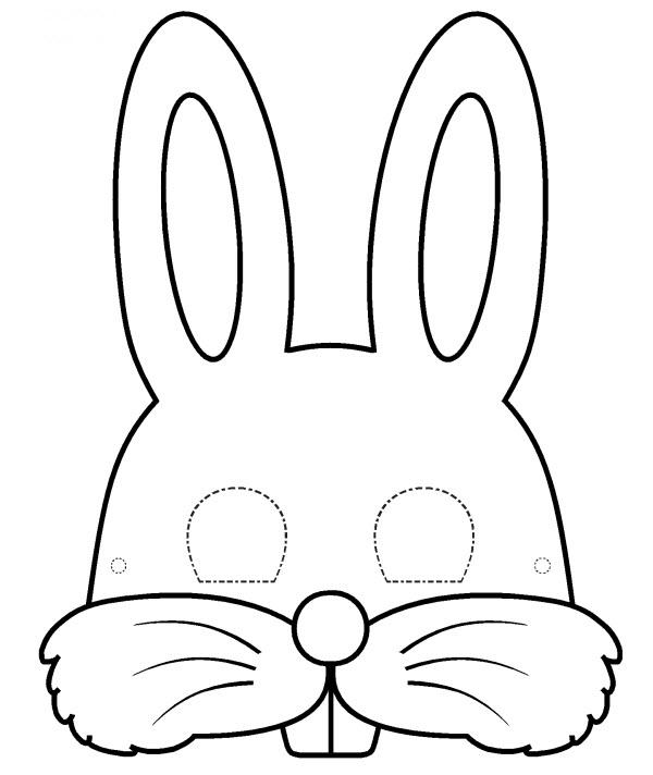 coloriage à dessiner lapin crètin a imprimer