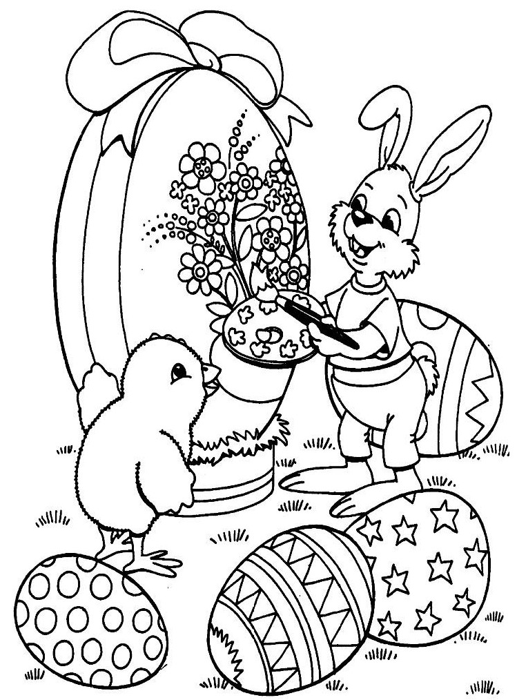 20 dessins de coloriage lapin de paques a imprimer gratuit imprimer. Black Bedroom Furniture Sets. Home Design Ideas