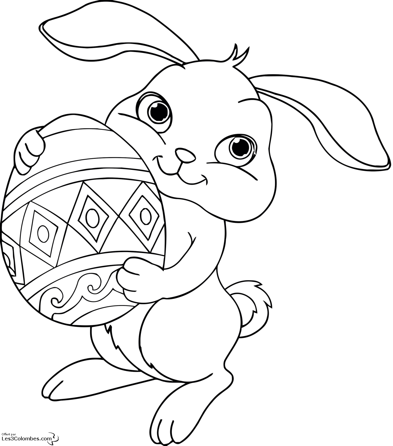 Free coloring pages of bunny mandalas - Coloriages lapin ...