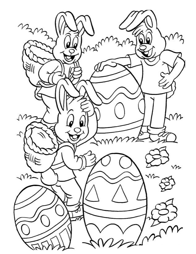 20 dessins de coloriage lapin de paques a imprimer imprimer - Coloriage paque ...