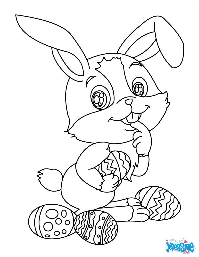 20 dessins de coloriage lapin de paques gratuit imprimer. Black Bedroom Furniture Sets. Home Design Ideas
