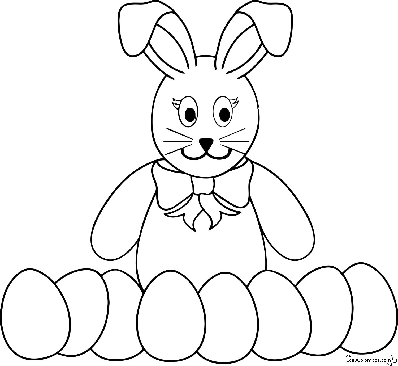 coloriage lapin de paques en ligne