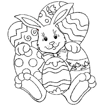 20 dessins de coloriage lapin de paques imprimer - Coloriage lapin paques ...