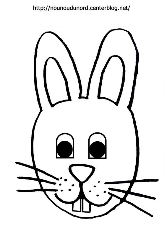 coloriage à dessiner lapin de paques gratuit