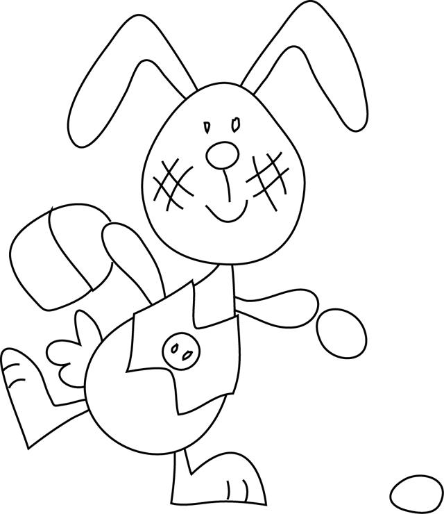 dessin lapin de paques en ligne