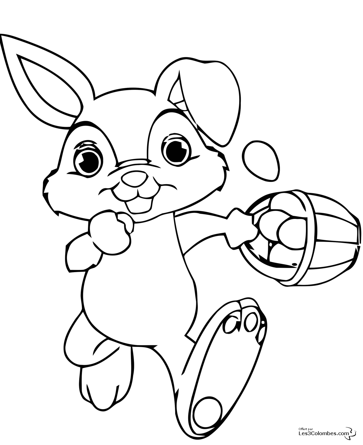 coloriage lapin de paques a imprimer gratuit. Black Bedroom Furniture Sets. Home Design Ideas