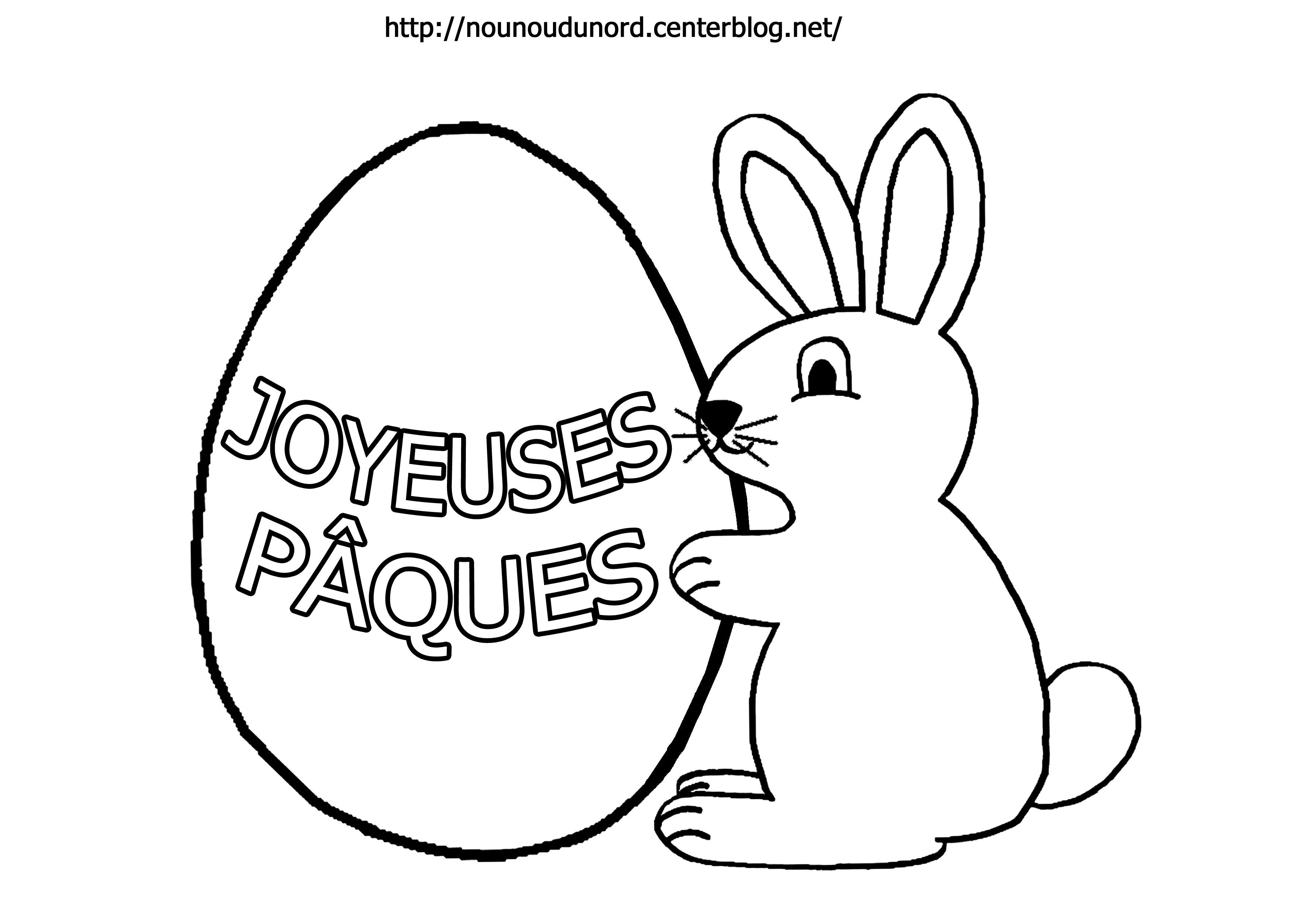 Coloriage lapin de paques a imprimer gratuit - Lapin de paques a imprimer gratuit ...