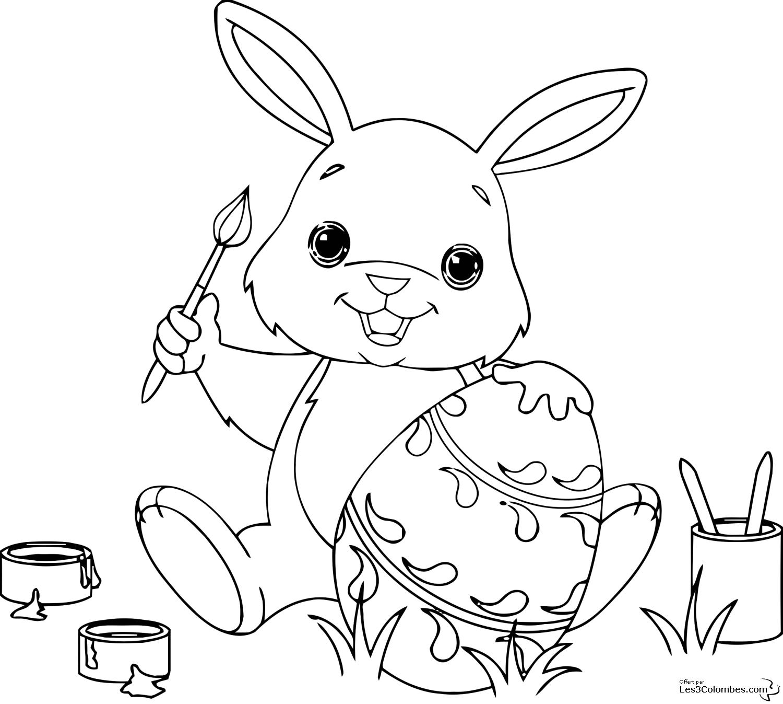 18 dessins de coloriage lapin en ligne imprimer - Lapin en dessin ...