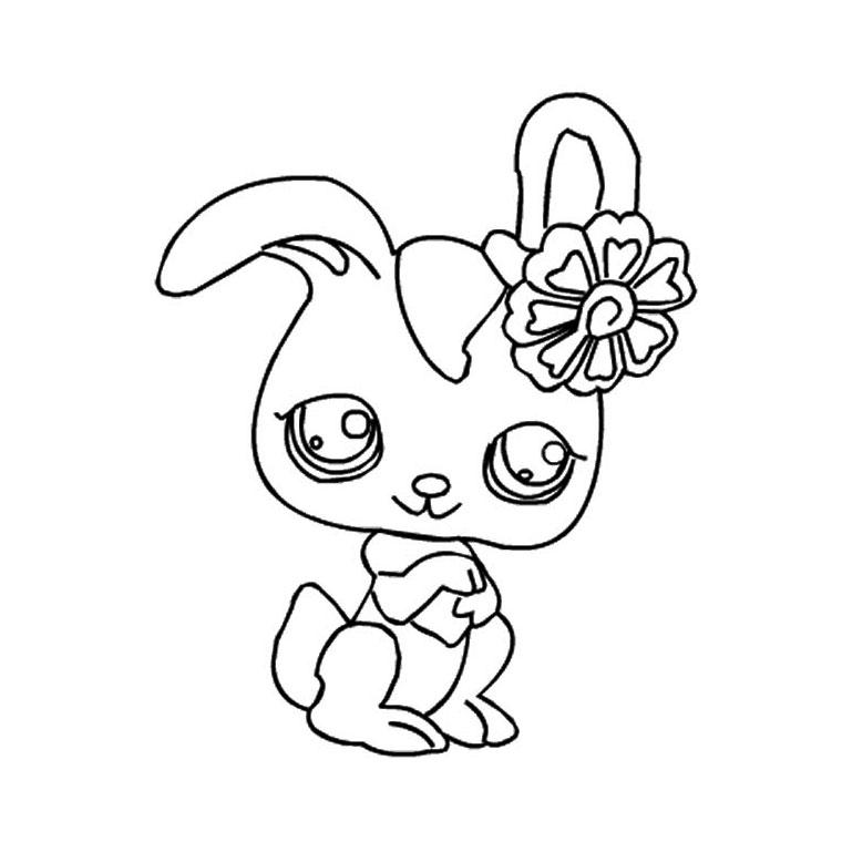 19 dessins de coloriage lapin gratuit imprimer - Cheval petshop ...