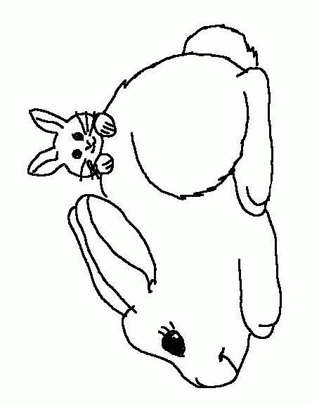 Coloriage de lapin sur hugo l 39 escargot - Lapin a colorier ...