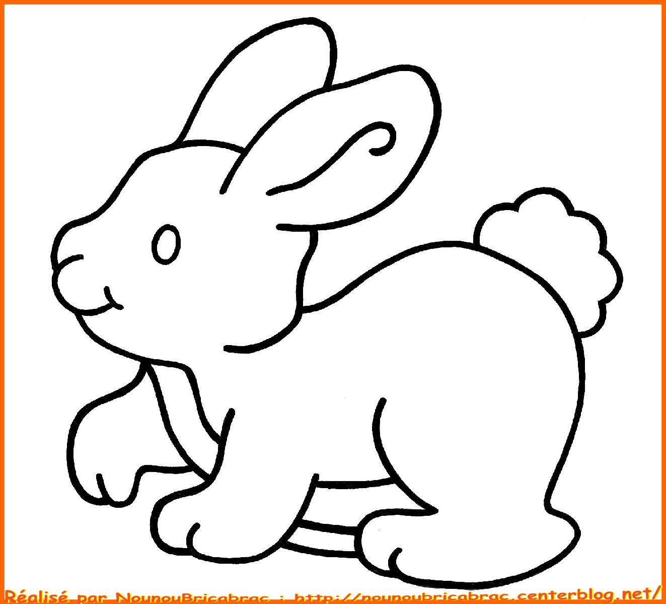 colorier un lapin