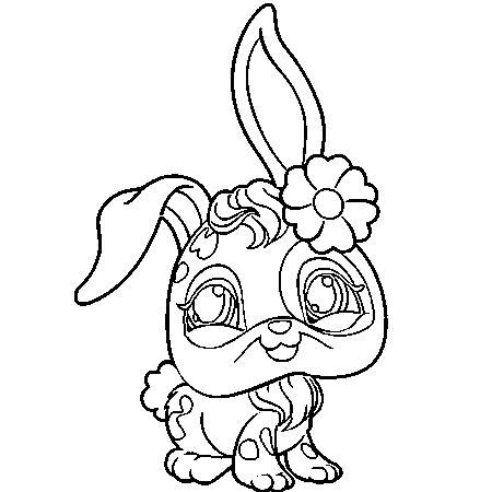 Coloriage en ligne lapin de paques - Lapin en dessin ...