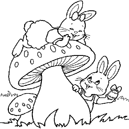 Coloriage lapin trop mignon - Lapin a dessiner ...