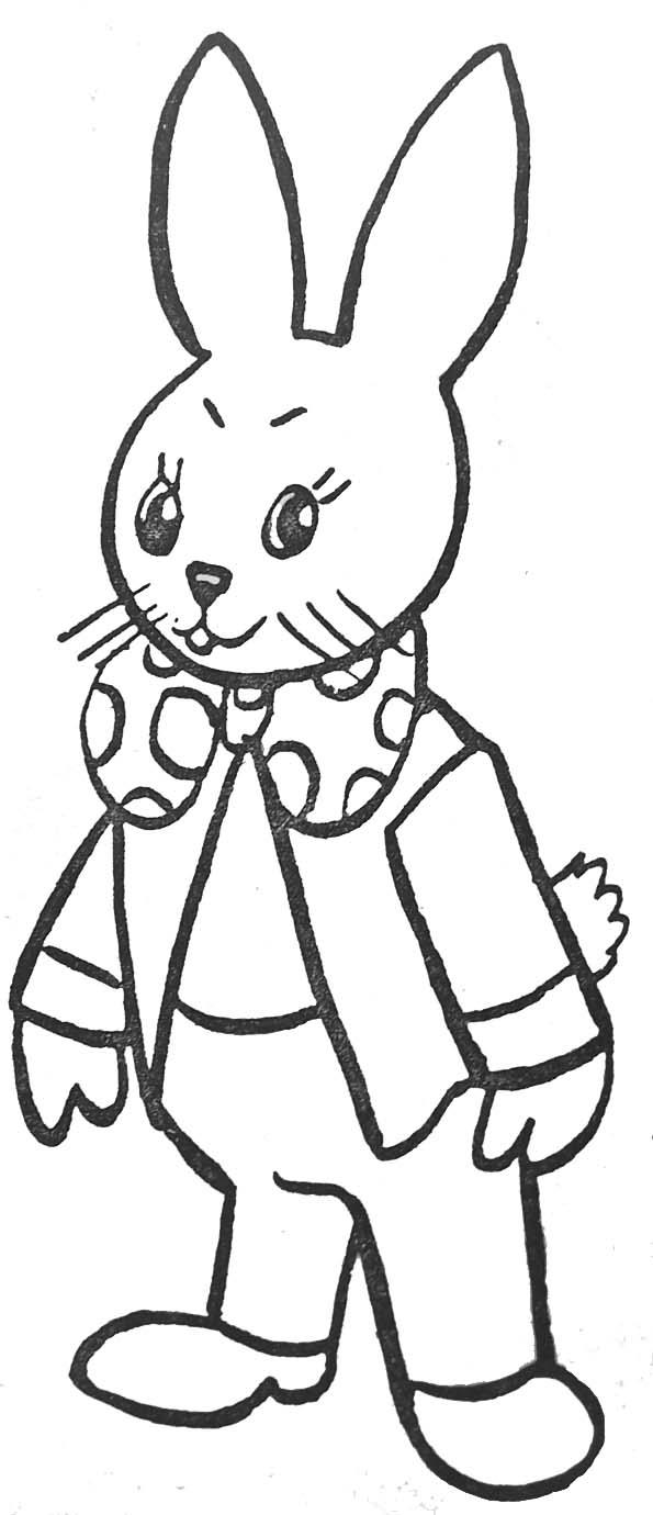 Coloriage un lapin - Lapin a dessiner ...