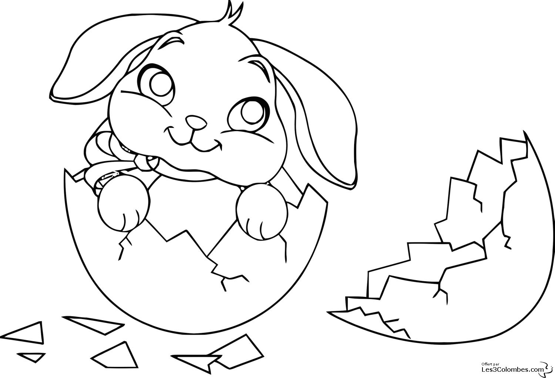 coloriage lapin et cochon d'inde