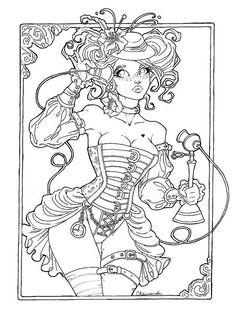 Coloriage adulte femme nue à imprimer
