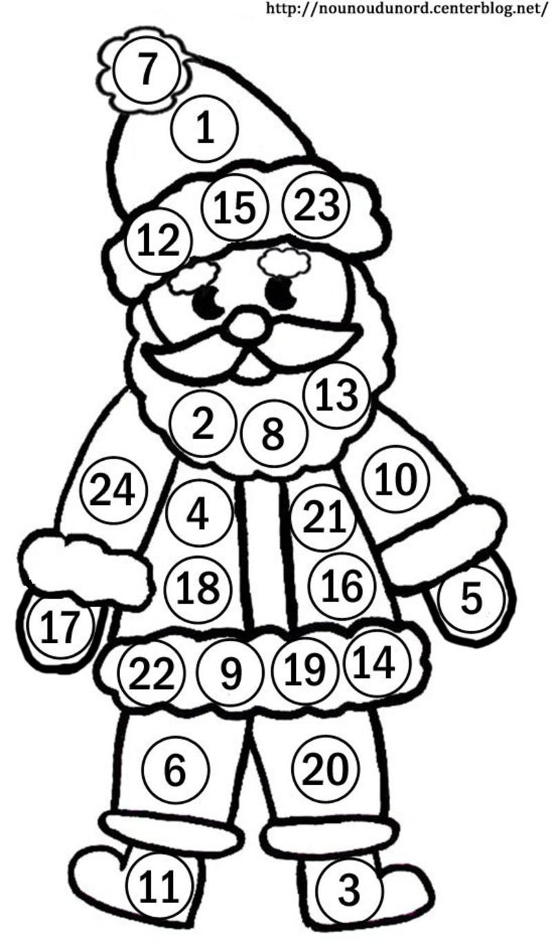 dessin calendrier de noel