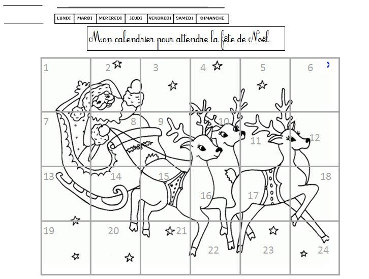 122 dessins de coloriage le calendrier de no l imprimer - Coloriage calendrier de l avent ...