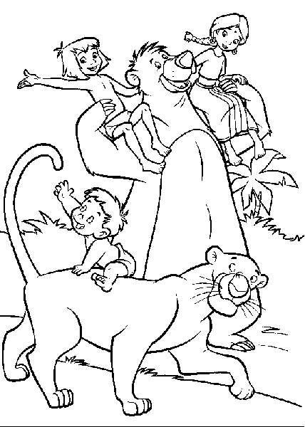 coloriage à dessiner gratuit à imprimer le livre de la jungle