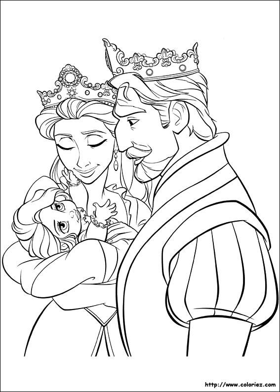 dessin le mariage de raiponce