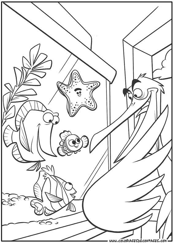 dessin � colorier le monde de nemo a imprimer