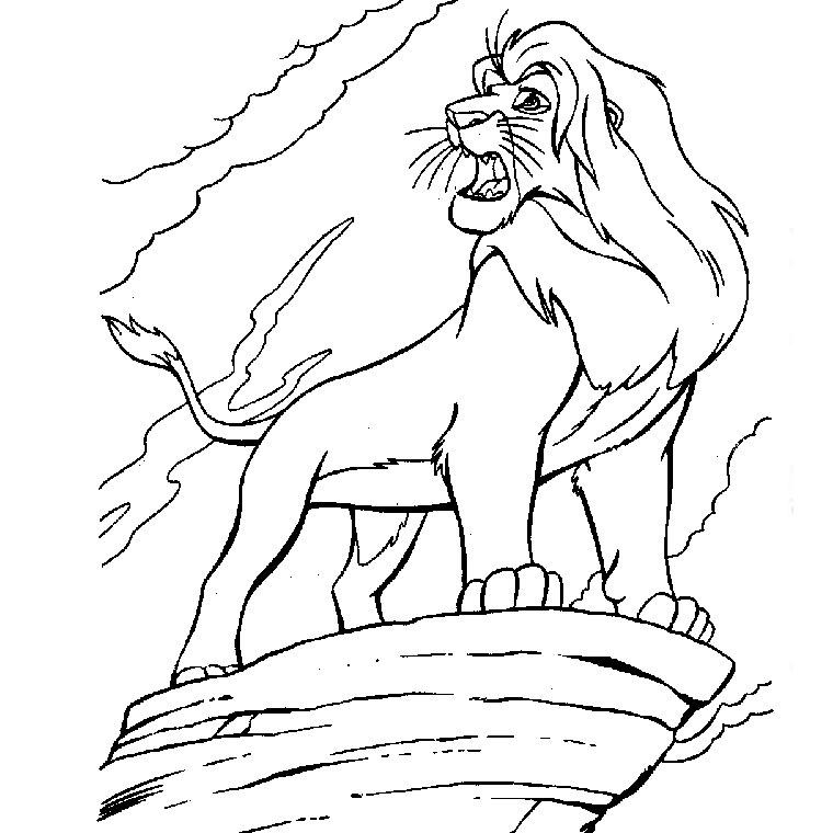 19 dessins de coloriage le roi lion 2 a imprimer imprimer - Coloriage roi lion 2 ...