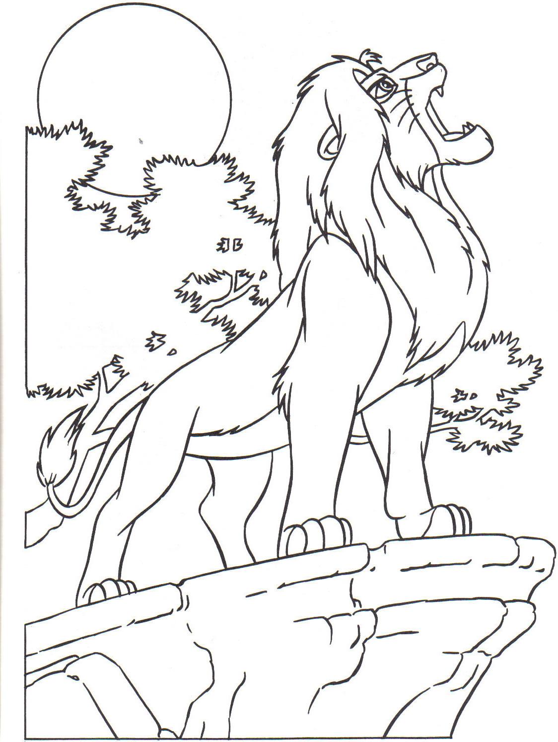 19 dessins de coloriage le roi lion a imprimer gratuit imprimer - Comment dessiner un lion ...