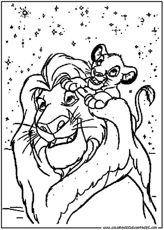 20 dessins de coloriage le roi lion disney imprimer - Coloriages lion ...