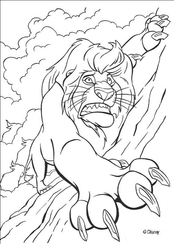 19 dessins de coloriage le roi lion scar imprimer - Voir le roi lion ...