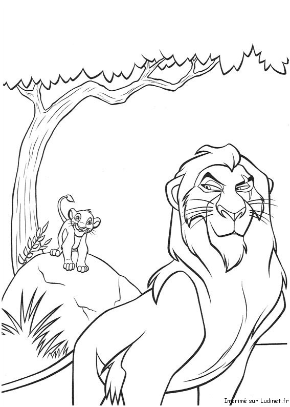 19 dessins de coloriage le roi lion scar imprimer - Roi lion dessin ...