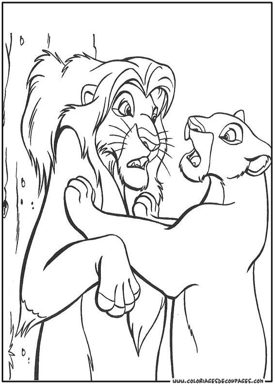 coloriage à dessiner le roi lion à imprimer